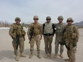 With AfPak Hand officers at Camp Julien